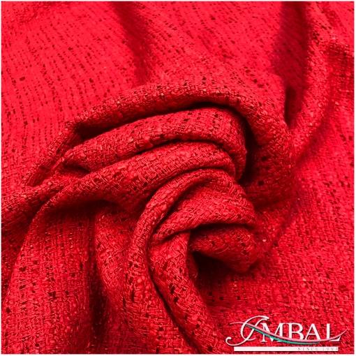 Шанель летняя хлопковая ярко-красного цвета