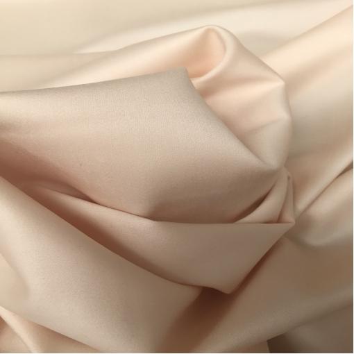 Ткань костюмная шерстяная стрейч золотисто-пудрового цвета