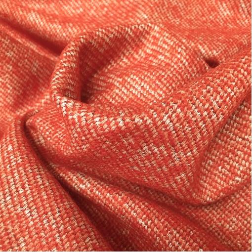 Твид костюмно-пальтовый стрейч терракотово-красного цвета