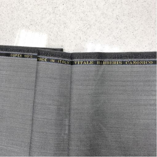 Шерсть костюмная Super 110 светло-серого цвета в ёлочку