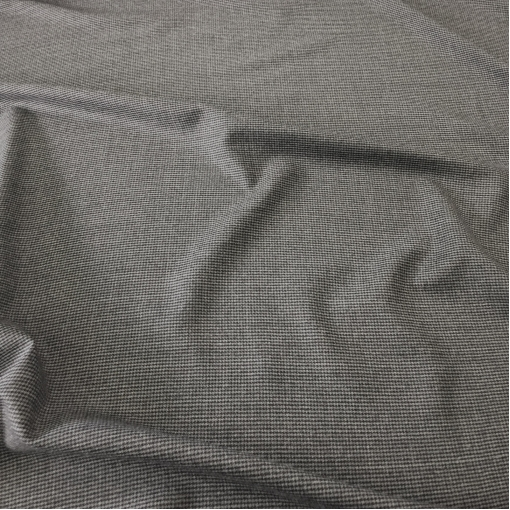 Ткань костюмная шерсть с кашемиром принт Prada серый меланжевый пье-де-пуль