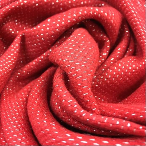 Твид костюмный стрейч дизайн Pinko красного цвета с люрексом