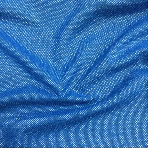 Твид костюмный стрейч дизайн Pinko ярко-синего цвета с люрексом
