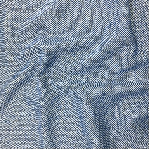 Твид костюмный стрейч дизайн Pinko в сине-бежевую крапинку с люрексом