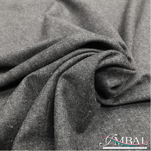 Твид костюмный шерсть с шелком стрейч средне-серого цвета