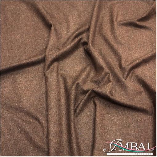 Твид костюмный шерсть с шелком стрейч охристо-коричневого цвета
