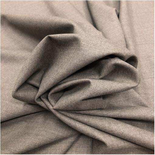Ткань костюмная шерстяная мягкая серо-бежевого меланжевого цвета