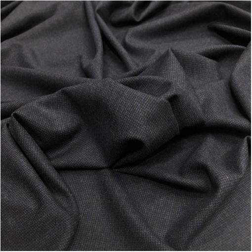 Ткань костюмно-плательная комфорт мелкий пье-де-пуль серо-синего цвета
