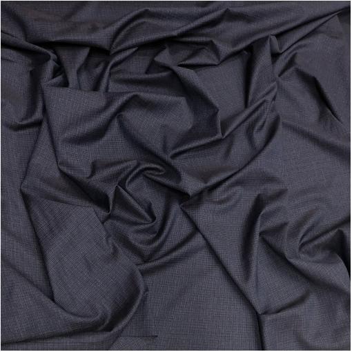 Ткань костюмная комфорт мелкая свекольно-синяя клеточка
