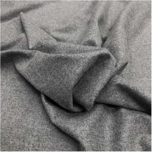 Ткань костюмная шерстяная стрейч светло-серый меланж