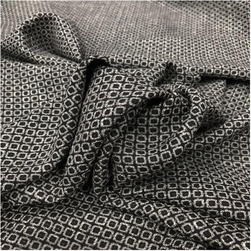 Ткань костюмная жаккардовая серо-черные клеточки