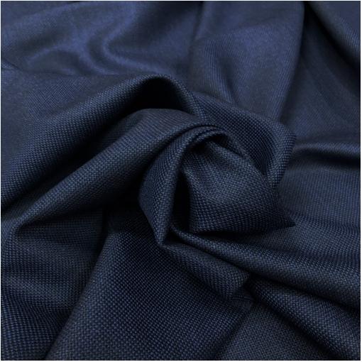 """Ткань костюмная тонкая  чернильно-синяя """"рогожка"""""""