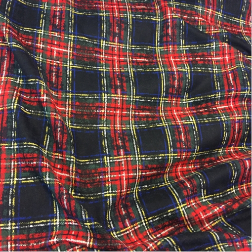 Ткань пальтово-костюмная красно-сине-зеленая клетка Burberry