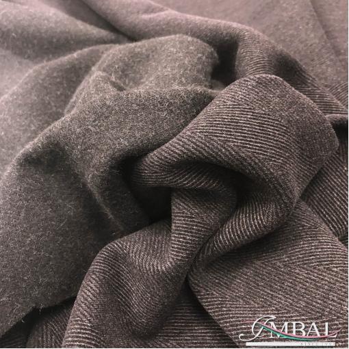 """Ткань пальтовая двухсторонняя Armani в """"елочку"""" шоколадно-свекольного цвета"""