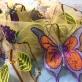 Кружево Blugirl нарядное с пайетками на сетке вышитые цветы и бабочки