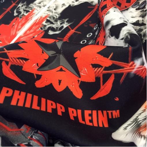 Неопрен (скубо) принт Philipp Plein купон ангел и демон