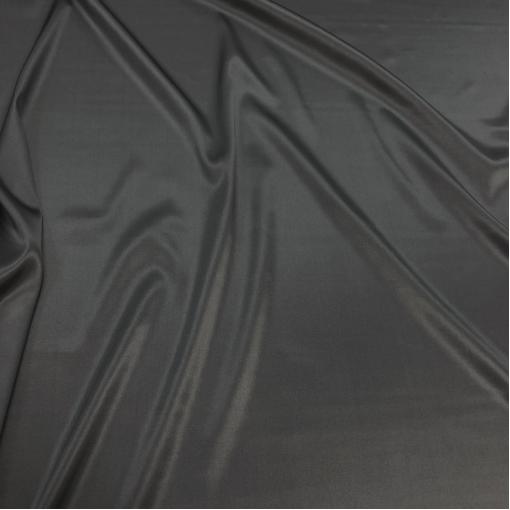 Шелк атласный стрейч цвета мокрого асфальта