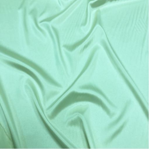 Шелк атласный стрейч ярко-мятного цвета
