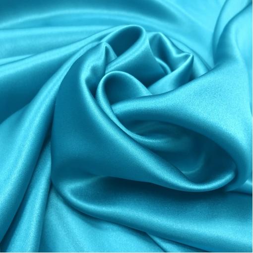 Шелк атласный стрейч La Perla цвета яркой голубой бирюзы