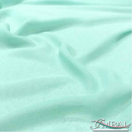 Шелк креповый полупрозрачный стрейч цвета разбелённого тиффани