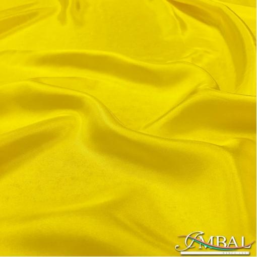 Шелк тонкий непрозрачный с атласным отливом ярко-желтого цвета