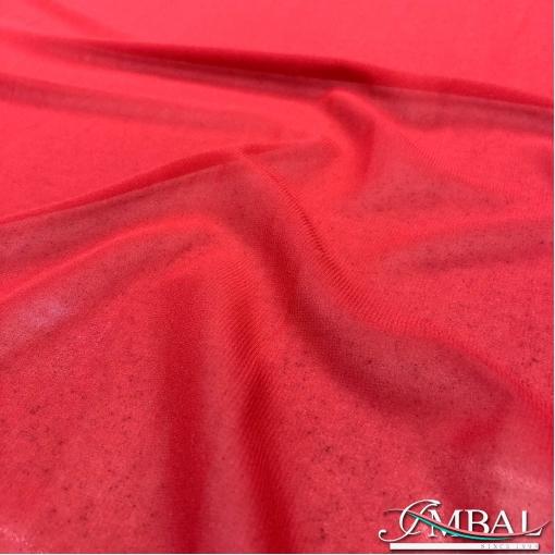 Шелк шифон креповый стрейч красно-малинового цвета