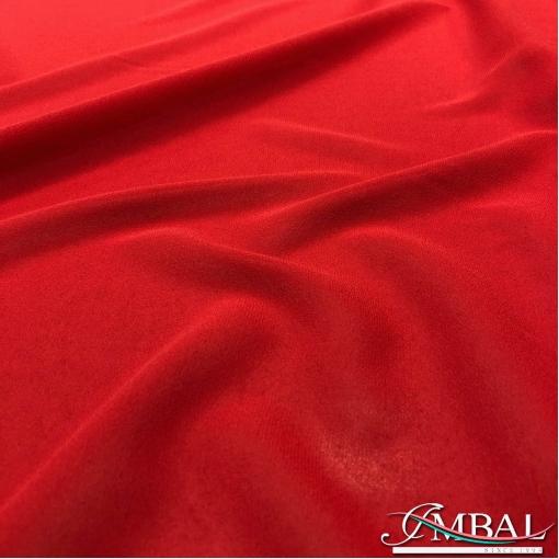 Шелк шифон креповый стрейч темно-красного цвета