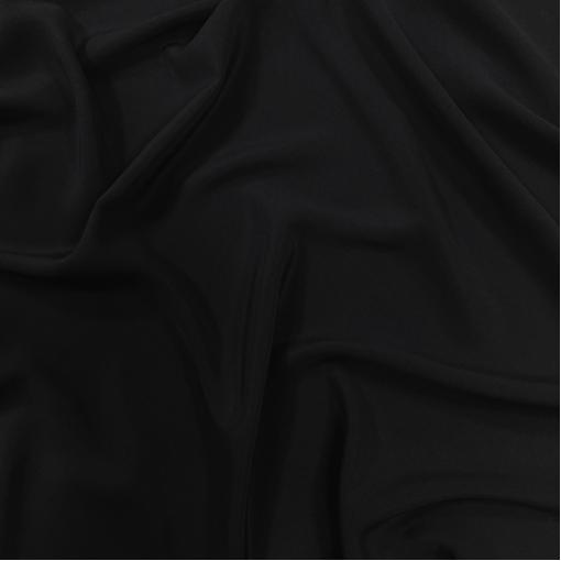 Шелк креповый атласный черного цвета