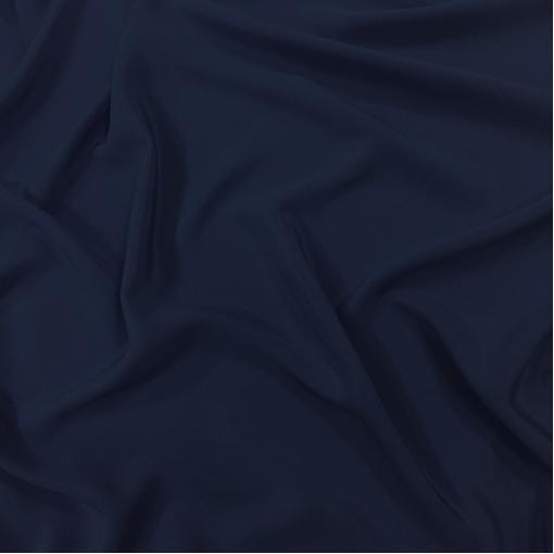 Шелк креповый тонкий черно-синего цвета