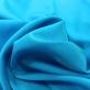 Шелк креповый стрейч ярко-голубого цвета