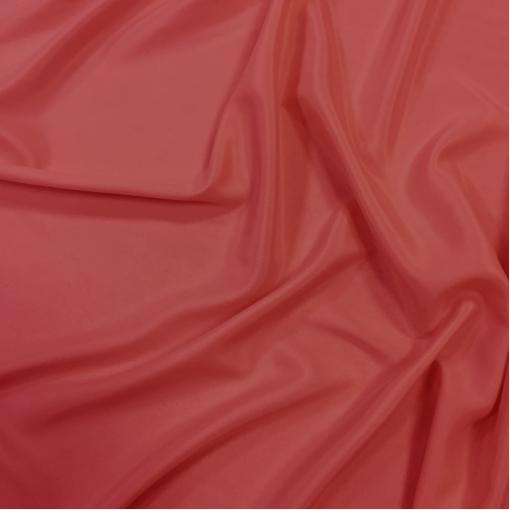 Шелк креповый нежного калинового цвета