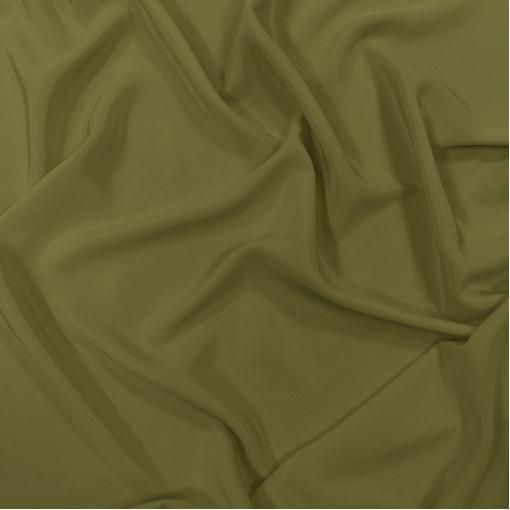 Шелк креповый оливкового цвета