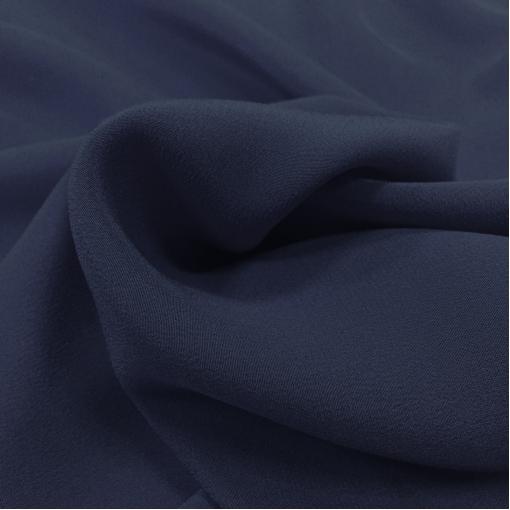 Шелк креповый тонкий синего цвета