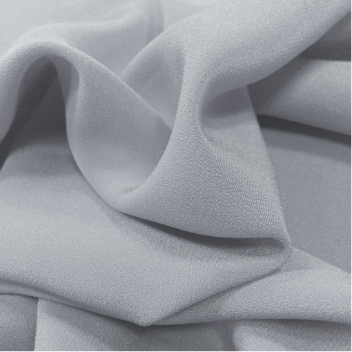 Шелк креповый фактурный  средне-серого цвета