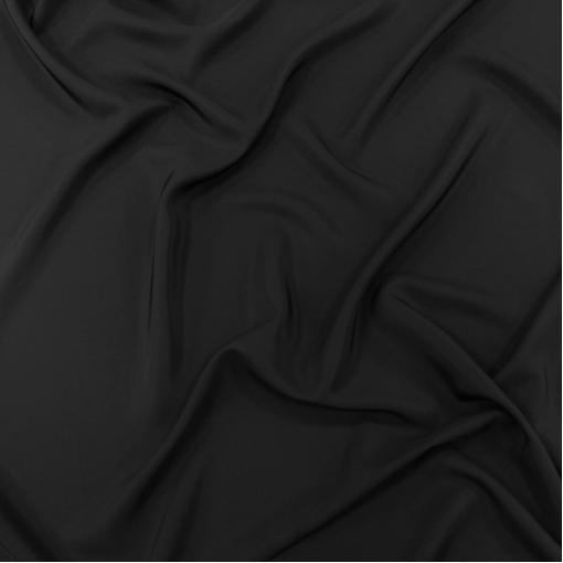Шелк креповый средней плотности черного цвета