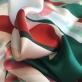 Шелк атлас E.Pucci абстракция в зелено-терракотовых тонах