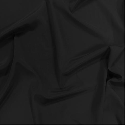 Шелк креповый непрозрачный черного цвета