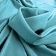 Шелк креповый непрозрачный приглушённого бирюзового цвета