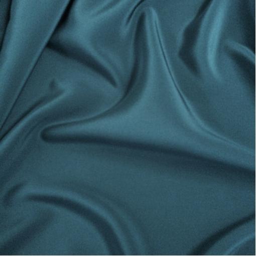Шелк креповый непрозрачный цвет индиго с голубым отливом