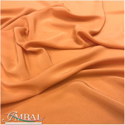 Шёлковый крепдешин приглушённого мандаринового цвета