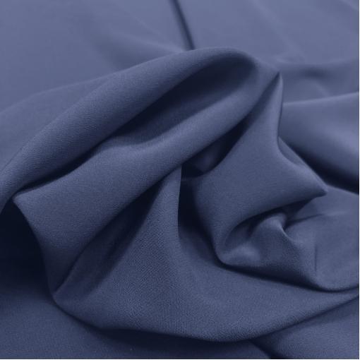 Шелк креповый стрейч пыльно-черничного цвета