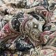 Шелк шифон принт ETRO цветочный узор и вензеля с нежными полосками люрекса