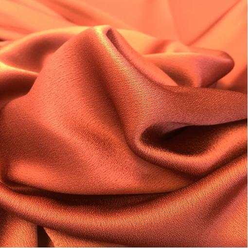 Вискоза плательная кади медно-терракотового цвета с фактурой