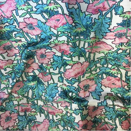 Вискоза плательная принт Alberta Ferretti розовые маки