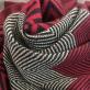 Трикотаж вискозный плотный принт Armani купон в елочку с люрексом