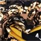 Трикотаж  вискозный  стрейч дизайн Elisa Fanti купон вензеля и пье-де-пуль