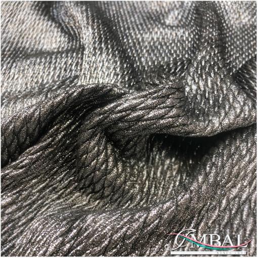 Ткань курточная стеганная стрейч сжатая серебристого цвета