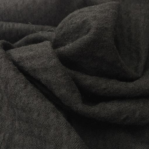 Шерсть плательная Prada креш жаккардовая клетка черного цвета