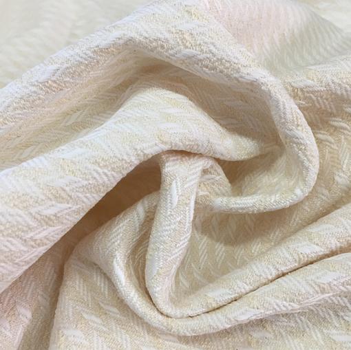 Жаккард хлопковый Armani стрейч ванильные штрихи