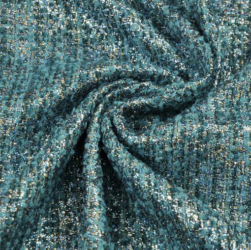 Костюмная шанель Max Mara цвета морской волны с блеском